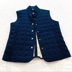 Brooks brothers navy corduroy quilted vest